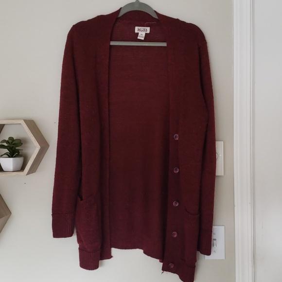 Mudd Sweaters - Burnt Red Button Sweater Cradigan XL